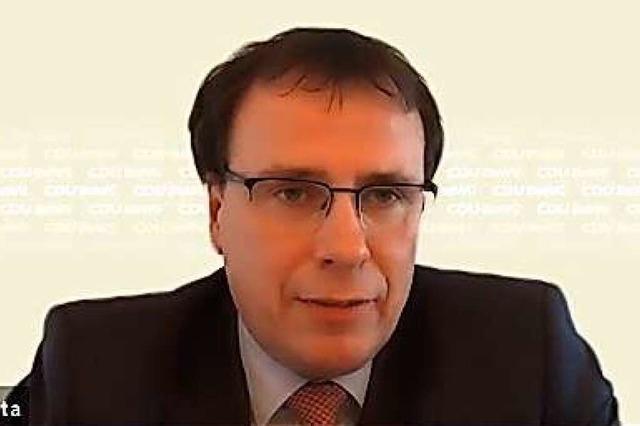 Volker Schebesta (CDU) BZ-Fragenwirbel: