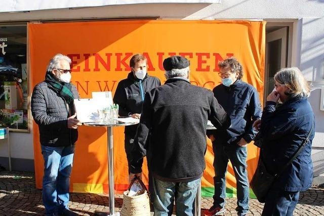 Werbegemeinschaft Waldkirch appelliert mit Unterschriftenaktion an Politik