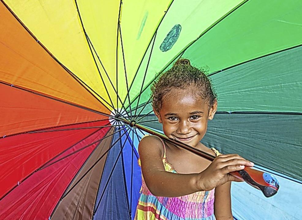 Ein kleines Mädchen vom Inselstaat Vanuatu  | Foto: Heiner Heine