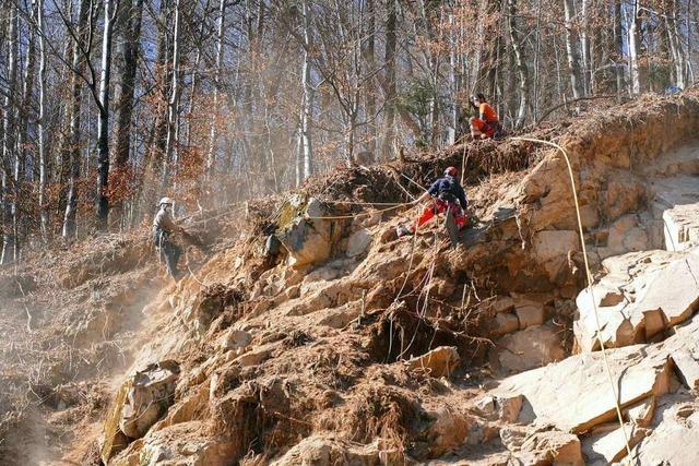 Gefährliche Felssicherungsarbeiten finden in Zell statt