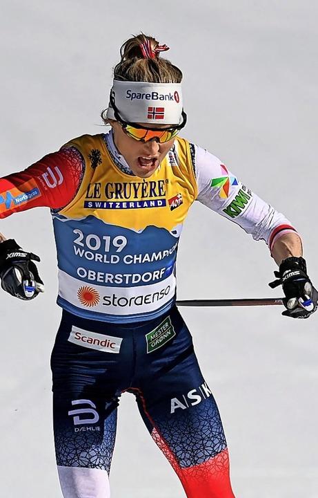 Die Siegerin: Therese Johaug  | Foto: CHRISTOF STACHE (AFP)