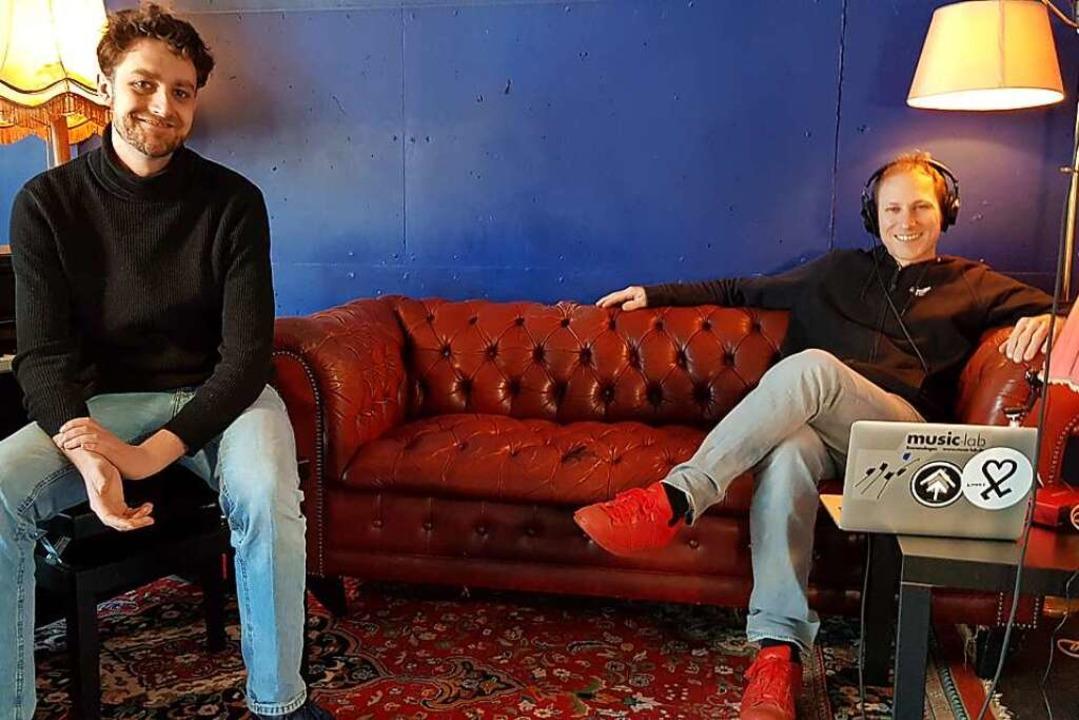 Wollen sich im Musikunterricht selbst ...und Musiclab-Leiter Krischan Lukanow.   | Foto: Gerhard Walser