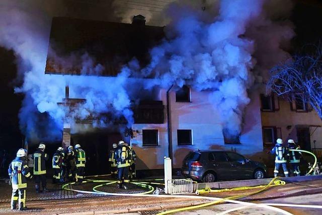 Zimmer ist beim Brand in einem Meißenheimer Haus völlig zerstört worden
