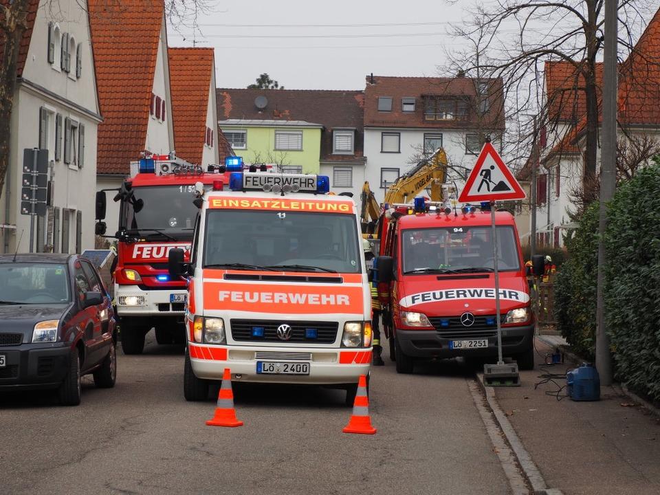 Die Bannstraße war abgesperrt.  | Foto: Herbert Frey