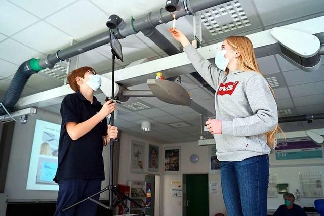 Schüler der Hebelschule in Schliengen bauen einen Virensauger fürs Klassenzimmer