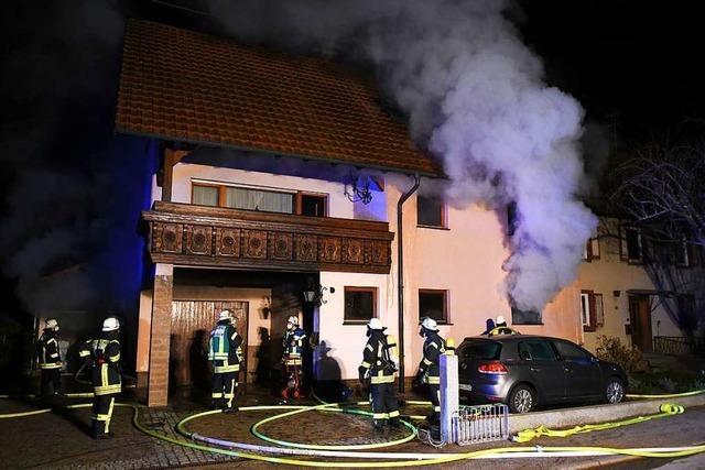 Mehrere Zeugen haben Schlimmeres beim Brand in Meißenheim verhindert