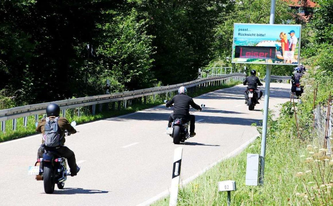 Appelle statt Verbote. In Sasbachwalde... Erfahrungen mit Lärmdisplays gemacht.  | Foto: Gemeinde Sasbachwalden