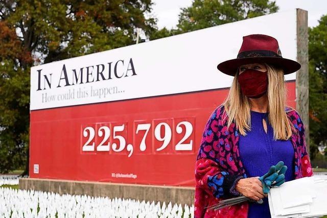 Der Versuch, an Hunderttausende Corona-Tote zu erinnern