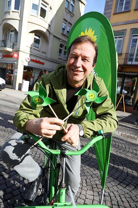 Ist selbst leidenschaftlicher Radler u...eter der Grünen im Wahlkreis Offenburg    Foto: Christoph Breithaupt