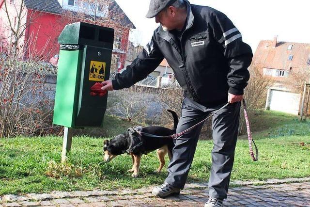 Wer für die Hundekot-Eimer in Kandern spendet, bekommt keine Spendenbescheinigung