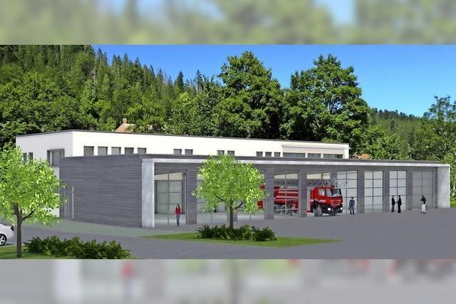 Das Feuerwehrhaus ist auf dem Weg