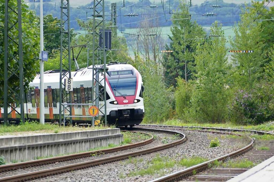 Die Wiesentalbahn ist die wichtigste N...sverbindung zwischen Zell und Lörrach.    Foto: Peter Gerigk