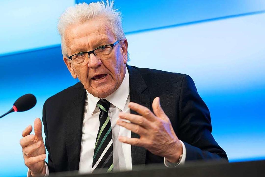 Ministerpräsident Winfried Kretschmann (Archivbild).  | Foto: Sebastian Gollnow (dpa)