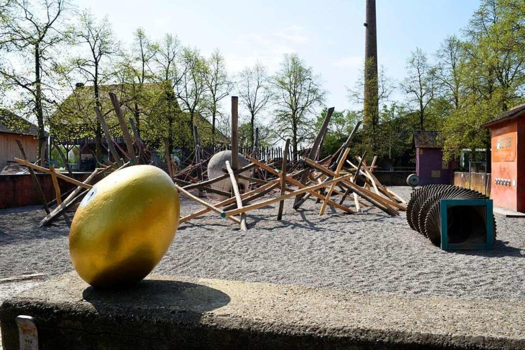 """Noch verwaist ist das Tiergehege Munde...222;Nistplatz"""" ist  geschlossen.    Foto: Thomas Kunz"""