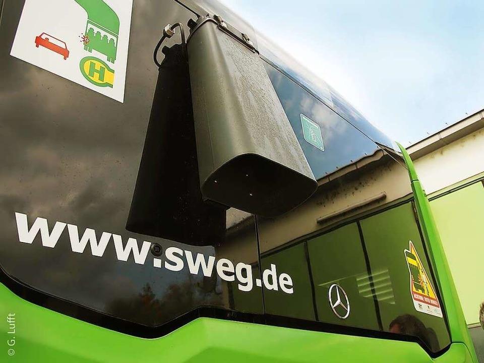 Am Heck der Stadtbusse befindet sich der Sensor.    Foto: Stadt Offenburg, tbo