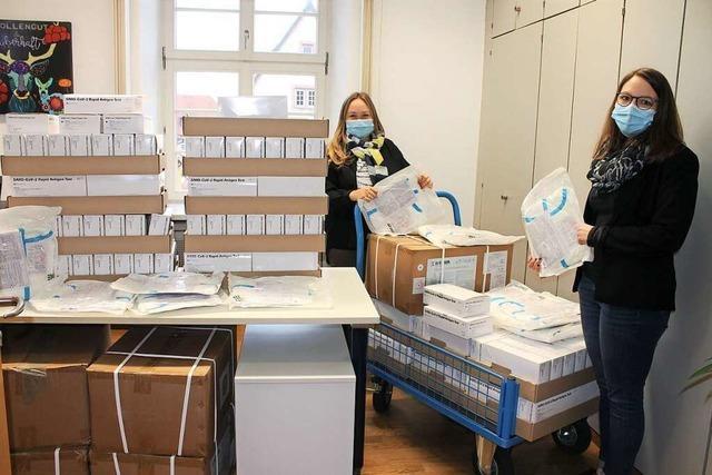 Die Testkits vom Land sind in Ettenheim angekommen