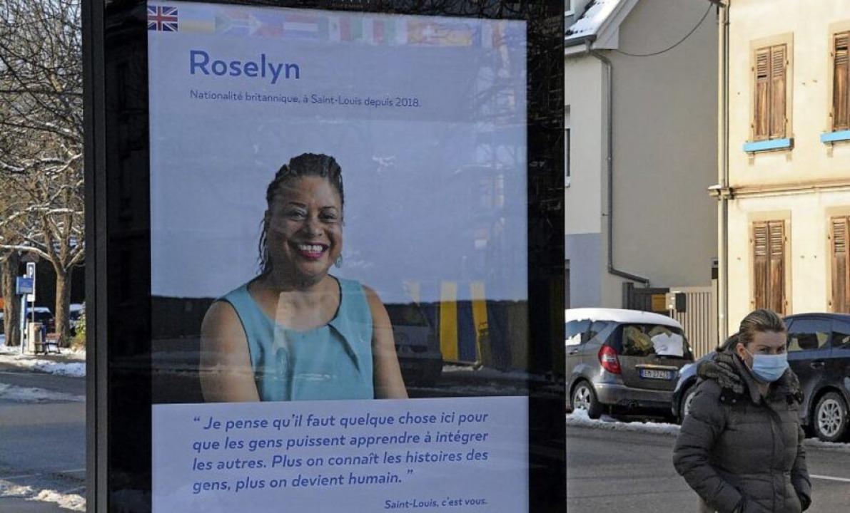 Bürgerinnen und Bürger aus 120 Natione...un auf Plakaten im Stadtbild zu sehen.    Foto: Annette Mahro