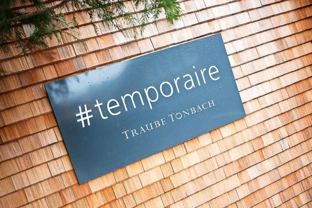Das neue Signet der Traube Tonbach.  | Foto: Sebastian Gollnow (dpa)