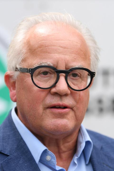 Fritz Keller, Gastronom und Deutschlands oberster Fußballfunktionär.  | Foto: Arne Dedert (dpa)