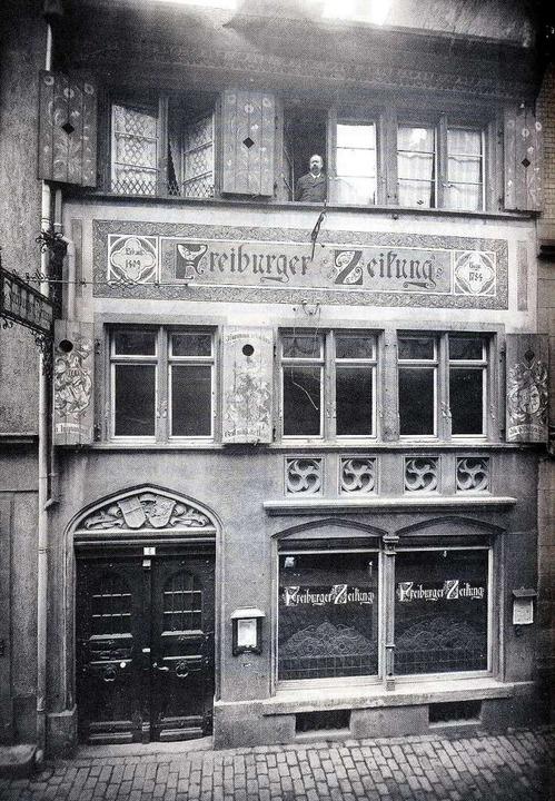 Das Zeitungshaus in der Grünwälderstraße.   | Foto: Repro