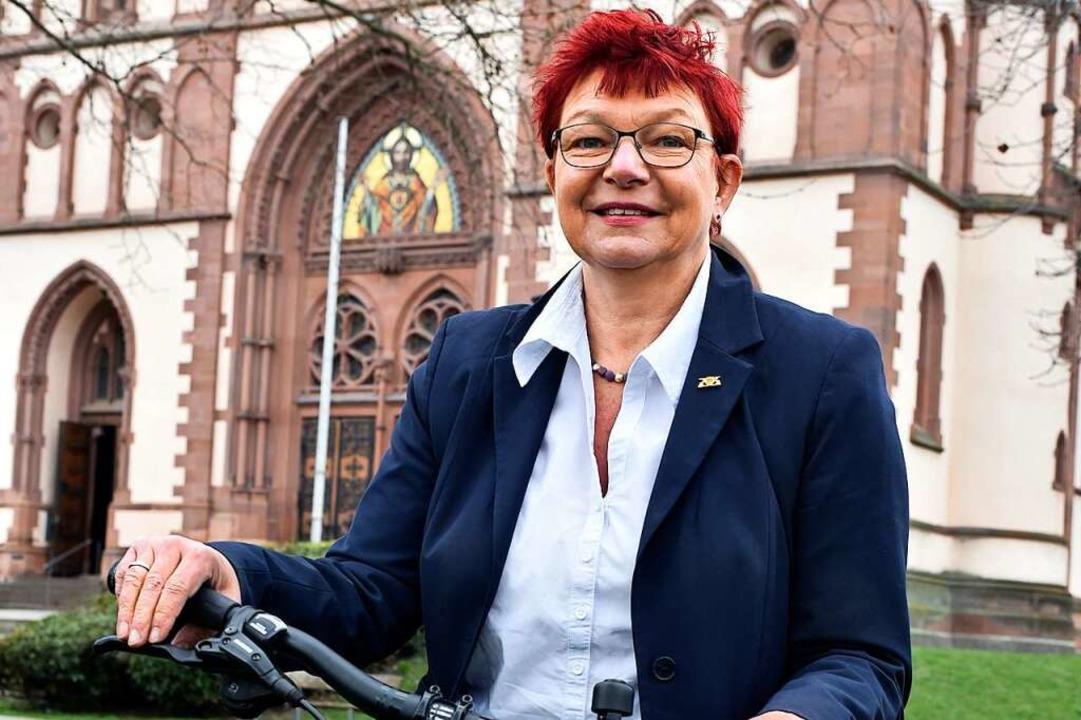 Gabi Rolland auf dem Stühlinger Kirchplatz  | Foto: Thomas Kunz