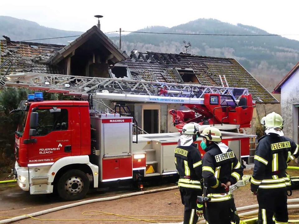 Als das Feuer aus und  der Qualm verfl...rde das Ausmaß des Schadens erkennbar.  | Foto: Roland Gutjahr
