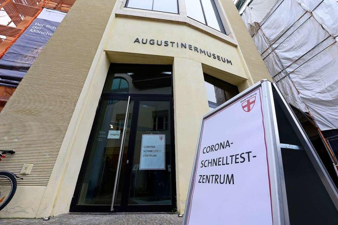 Das Corona-Schnelltest-Zentrum im Augustinermuseum  öffnet am Montag.  | Foto: Ingo Schneider