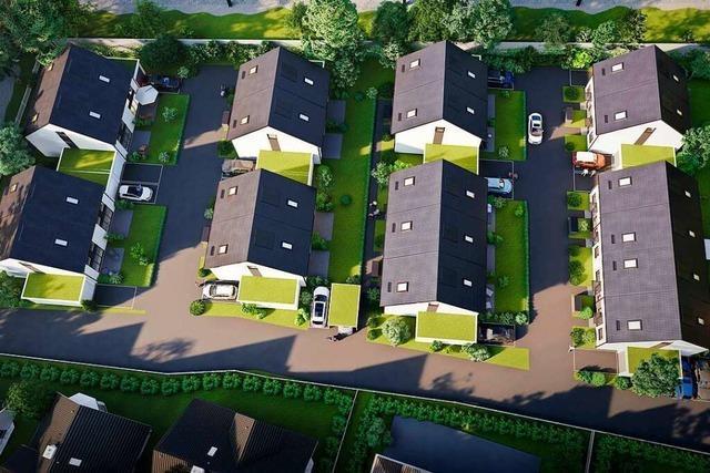 In Oberrheinfelden entstehen auf einer Brache 19 Häuser