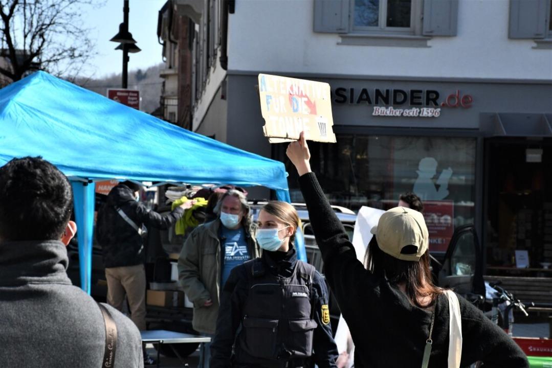 Protest gegen die AfD in Lörrach  | Foto: Barbara Ruda