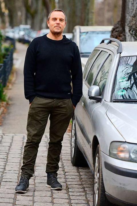 Nicolas Rehault an der Otto-Wels-Straße    Foto: Ingo Schneider
