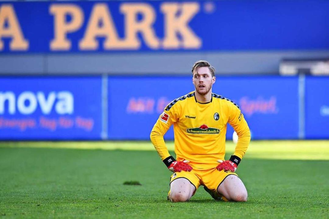 Florian Müller zeigte sich resigniert.    Foto: SC Freiburg/Achim Keller