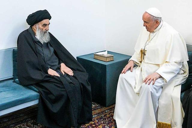 Papst Franziskus beschwört im Irak den Frieden zwischen den Religionen