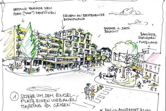 Architekt Fritz Willhelm stellt Alternativpläne für den Lörracher Engelplatz vor