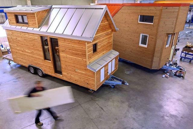 Die App Crossiety soll nicht nur in beiden Rheinfelden für Tiny Houses werben