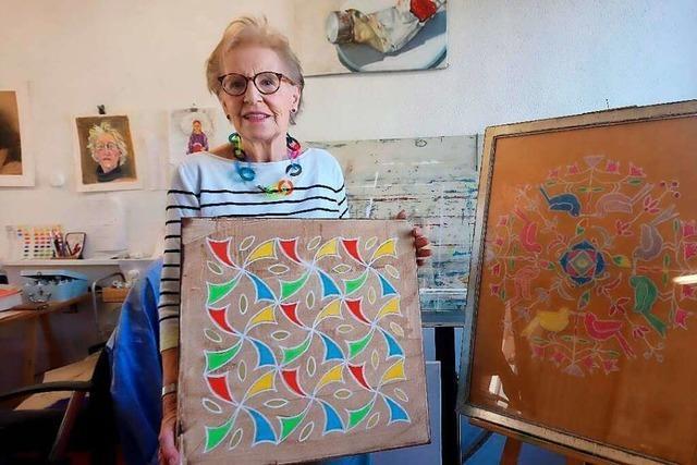 Eine Künstlerin aus Grenzach-Wyhlen hat Kolams für sich wiederentdeckt