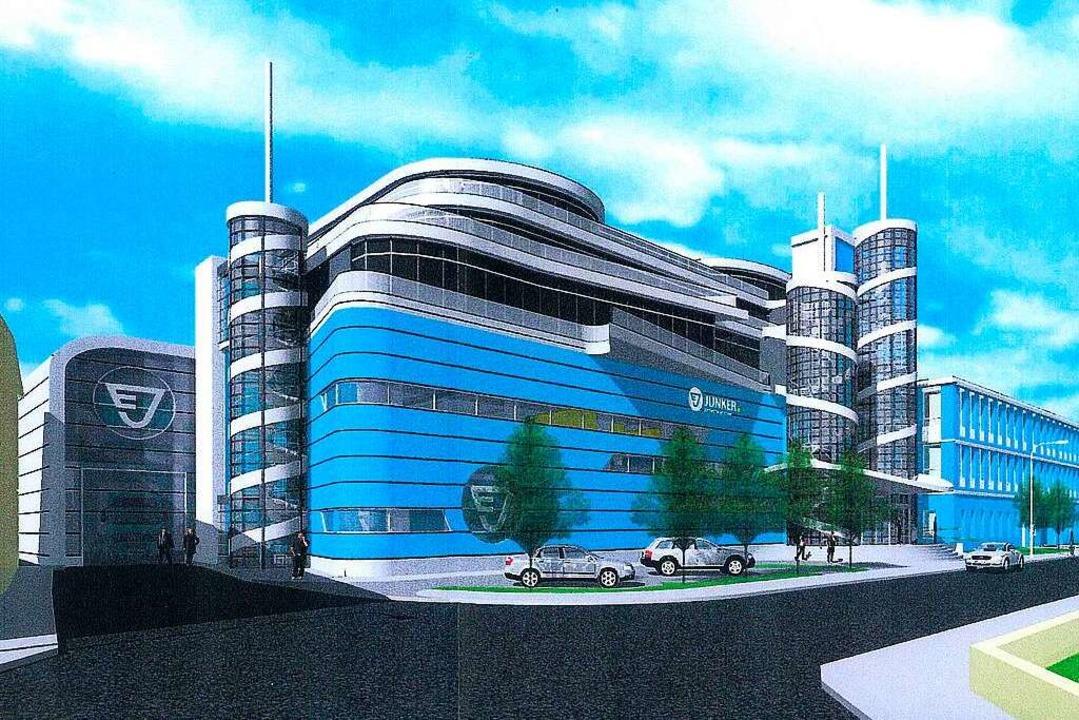 Mit so einer Animation der geplanten N... einen geplanten Helikopterlandeplatz.  | Foto: junker