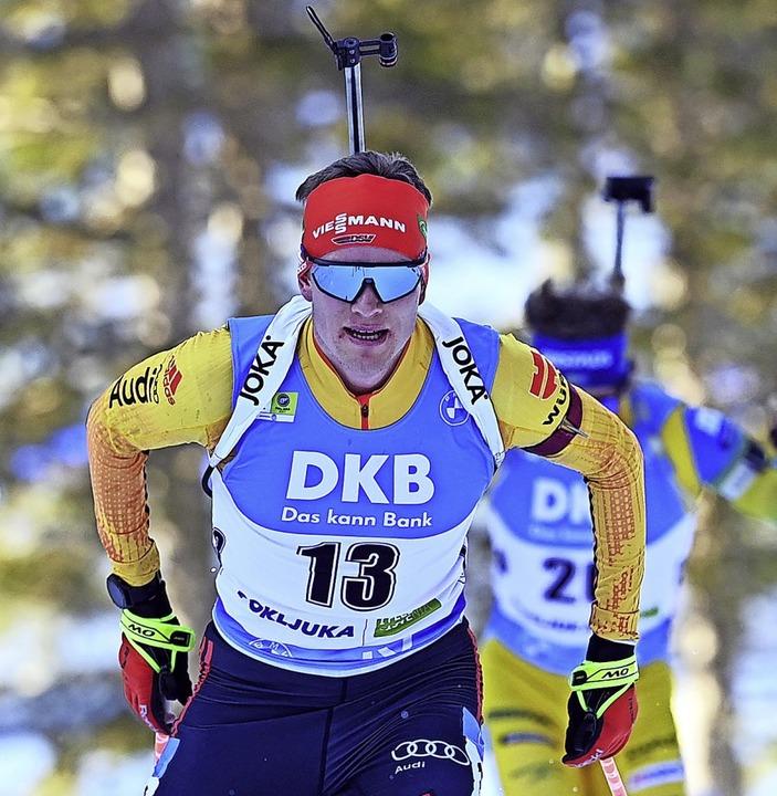 Beste Weltcup-Woche für Biathlet Bened...ge sechs und acht in den Einzelrennen.  | Foto: Sven Hoppe (dpa)