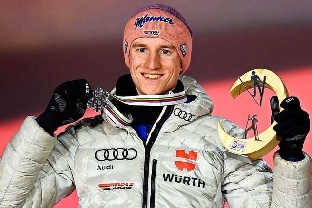 Karl Geiger überragt bei der Nordischen Ski-WM in Oberstdorf