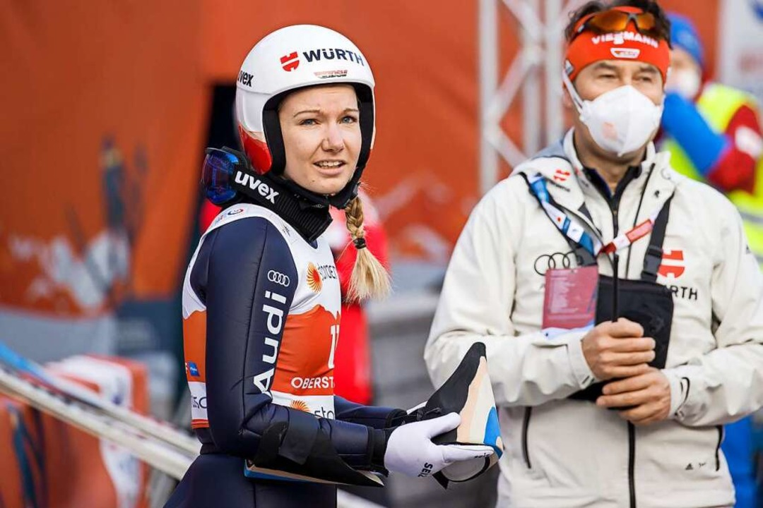 Svenja Würth vom SV Baiersbronn, die f...rinnen in Oberstdorf an. Sie wurde 17.  | Foto: Daniel Karmann (dpa)