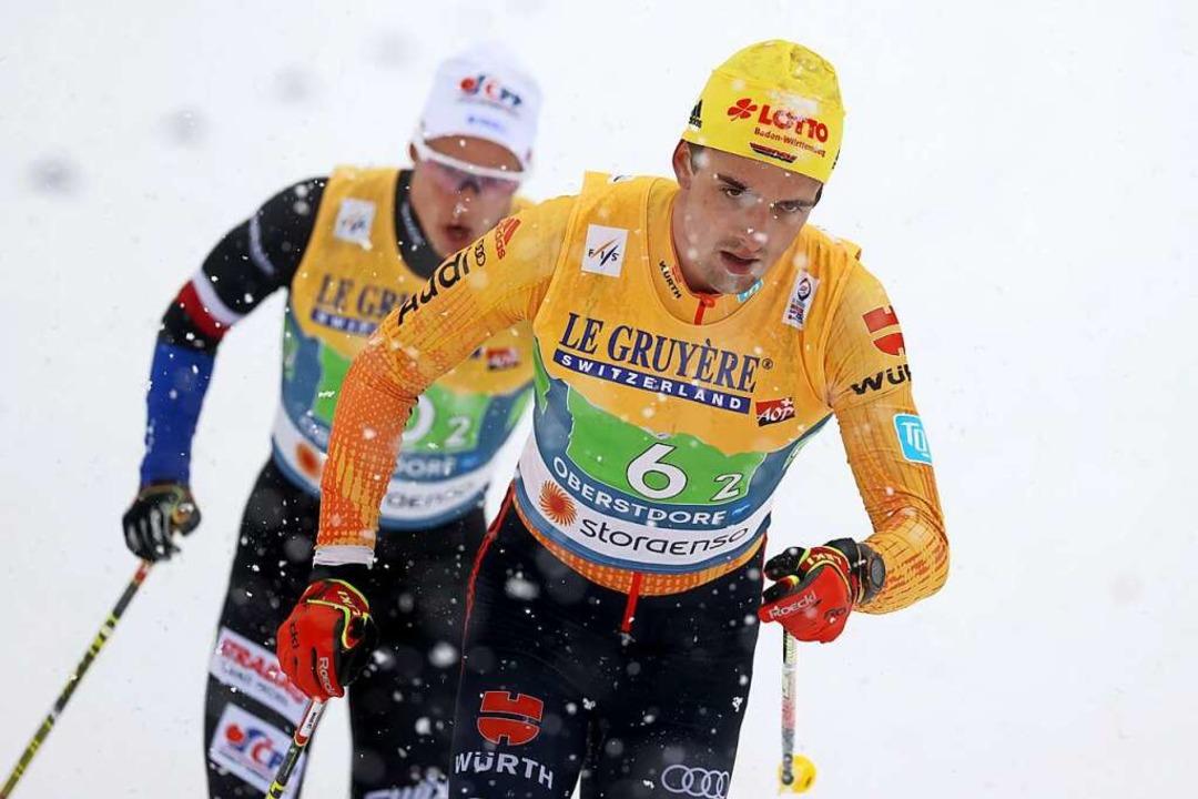 Janosch Brugger von der WSG Schluchsee...reitag) schaffte es dort auf Platz 39.  | Foto: Karl-Josef Hildenbrand (dpa)