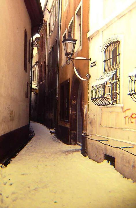 Ein Schild zum Jazz-Keller gab es nich... ursprünglich grünen Tür wies den Weg.  | Foto: Joachim Scheck