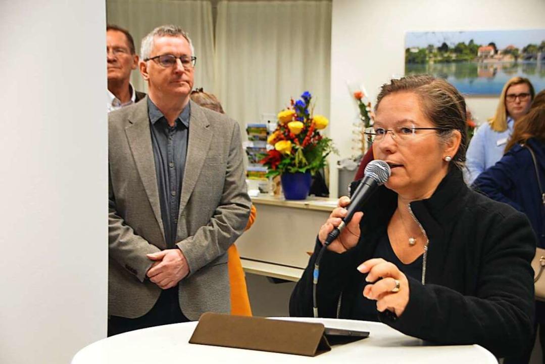 Seit 2015 steht Diana Stöcker an der V...bei der Eröffnung des Schauraums 2019.    Foto: Horatio Gollin