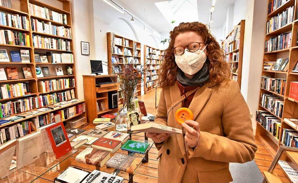 Clara Binder war eine der ersten Kundinnen in der Jos-Fritz-Buchhandlung.  | Foto: Michael Bamberger