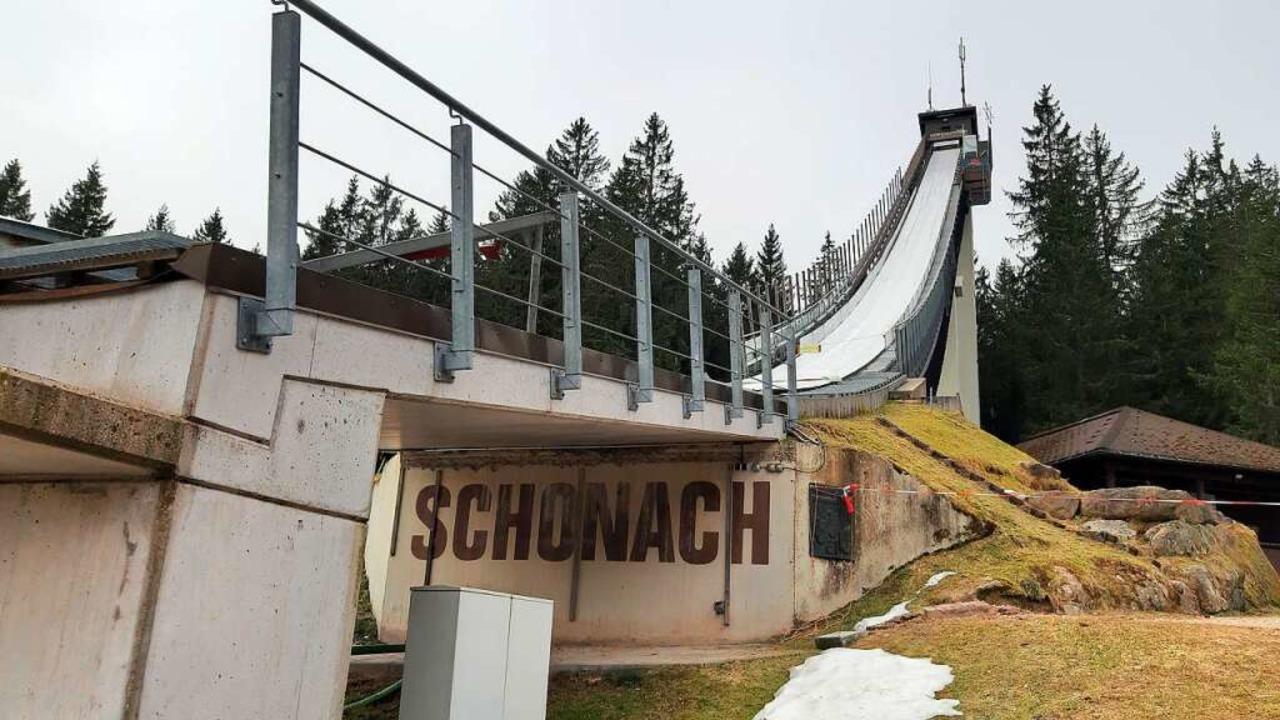 Hier springt in diesem Winter niemand mehr: Die Langenwaldschanze in Schonach    Foto: Johannes Bachmann