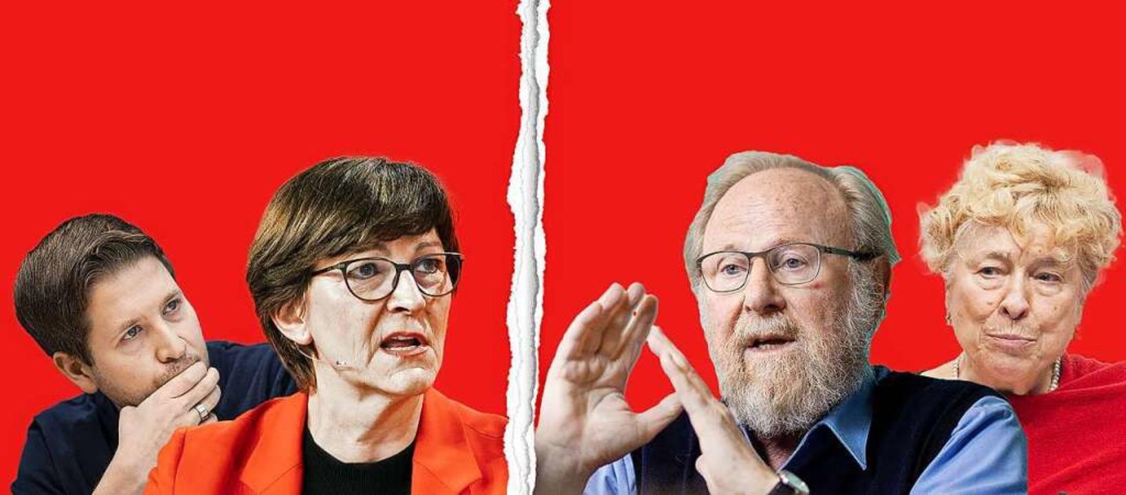Streiten über linke Identitätspolitik:...rse und Gesine Schwan auf der anderen.    Foto: v.l.n.r.: Felix Zahn,Janine Schmitz,Ro...tmann,Malte Ossowski (image-images.de)