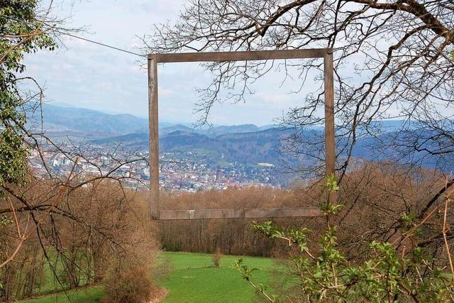 Der wunderbare Bilderrahmen am Schönberg ist im Winter kaputt gegangen