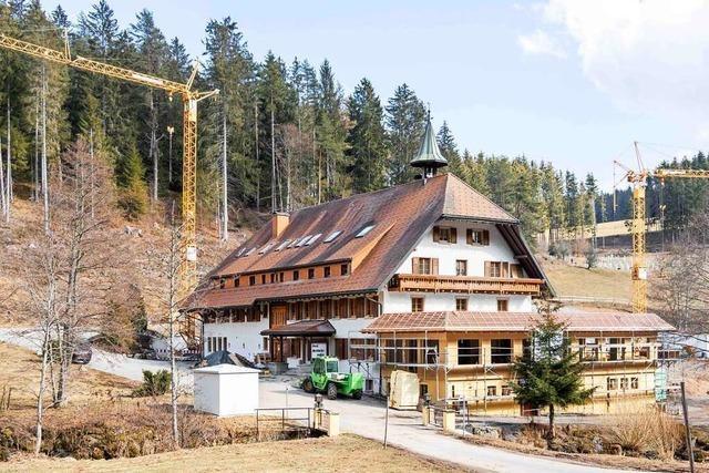 Die umgebaute Schlüchtmühle soll im Herbst fertig werden