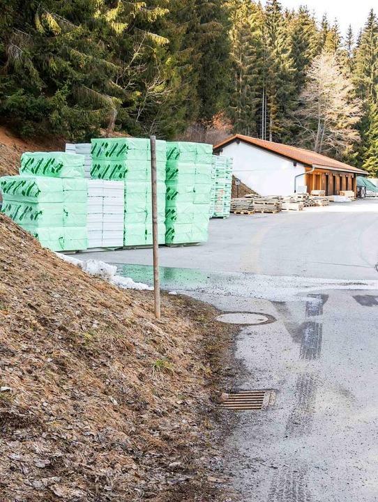 Direkt an der Zufahrtsstraße zu den Ho...mit zwei Hackschnitzelkesseln geplant.  | Foto: Wilfried Dieckmann