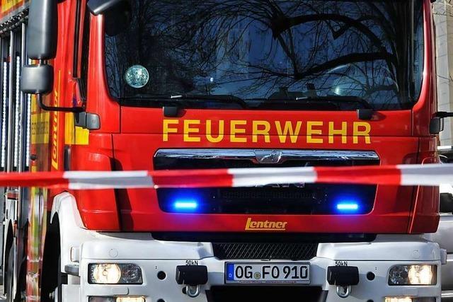 Verletzter bei Gartenhausbrand in Offenburger Laubenkolonie