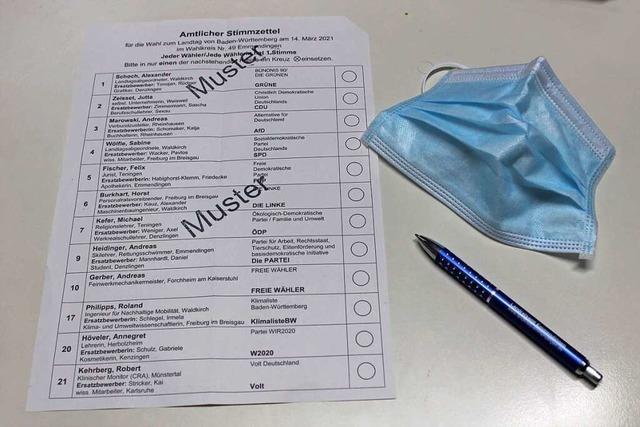 Zwölf Namen, zwölf Parteien stehen zur Wahl